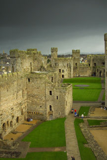 Caernarfon Castle from Eagles Tower