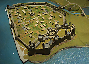 Model of caernarfon Castle