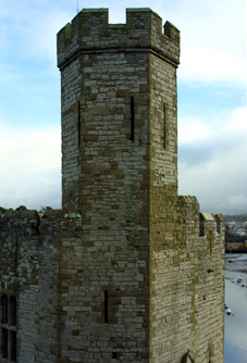 Caernarfon Castles unique polygonal tower